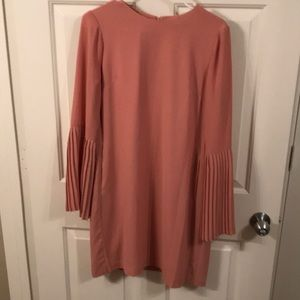 Nude/ peach flare arm dress
